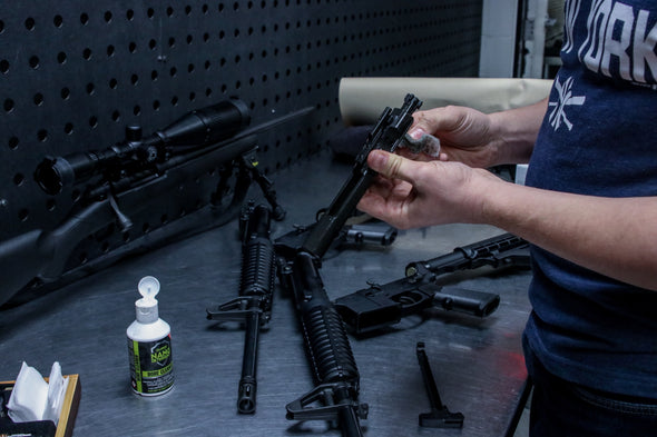 gun cleaner for any type of firearm, can be used with any gun cleaning kit