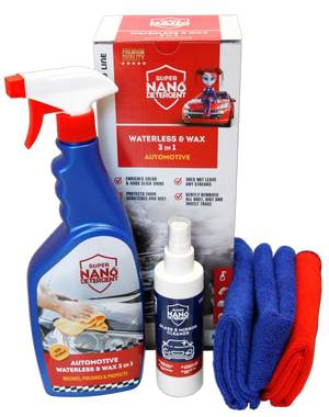 Super Nano detergent Waterless & Wax 3 in 1 automotive