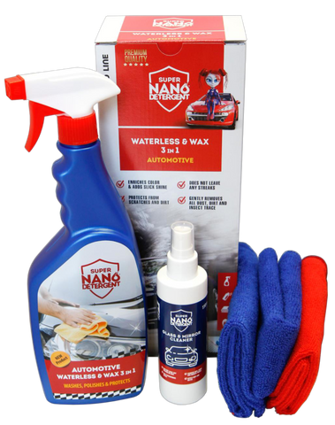 Image of Super Nano detergent Waterless & Wax 3 in 1 automotive