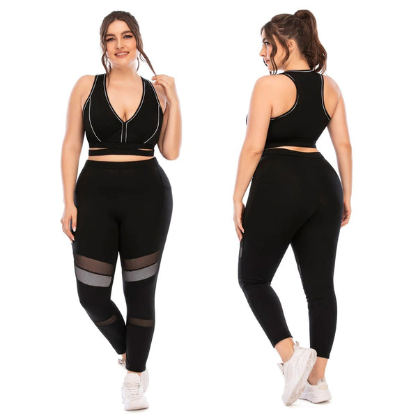 Mesh Leggings Suit