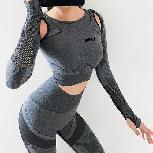 Camouflage Sports Slimming Suit