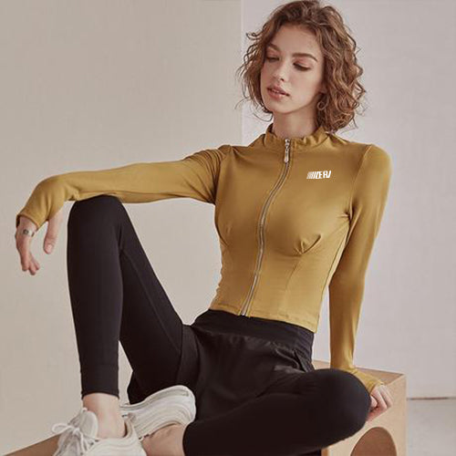 Fitness Gold Yoga Jacket