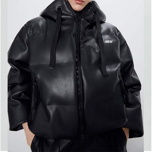 Heavy-Leather Cotton Padded Jacket