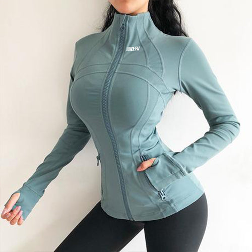 Solid Spandex Windproof Jacket