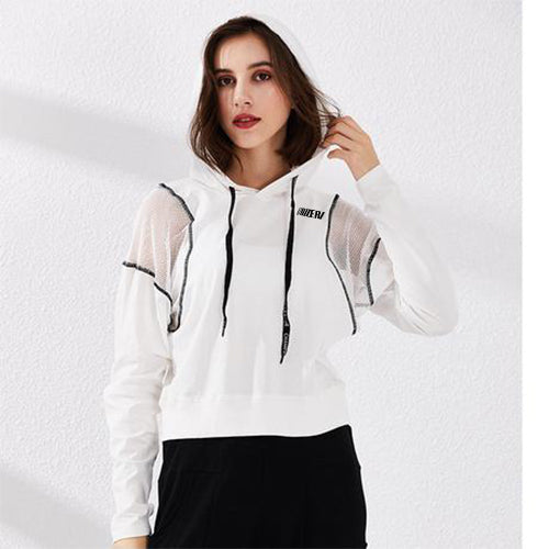 Black-White Casual Yoga Jacket