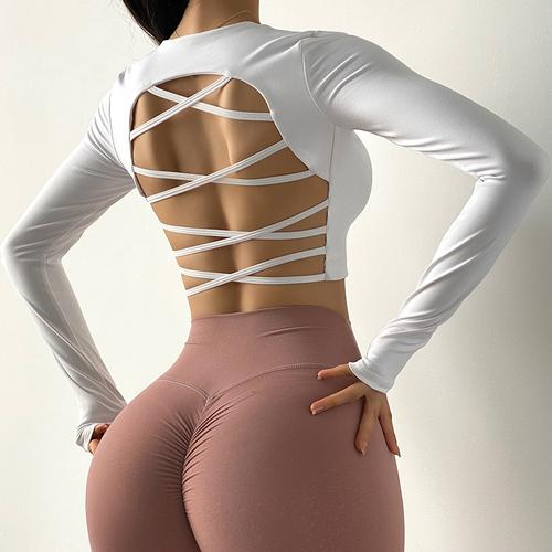 Backless Stylish Long Sleeve