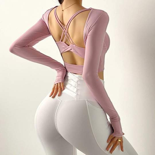 Beautiful Backless Long Sleeve