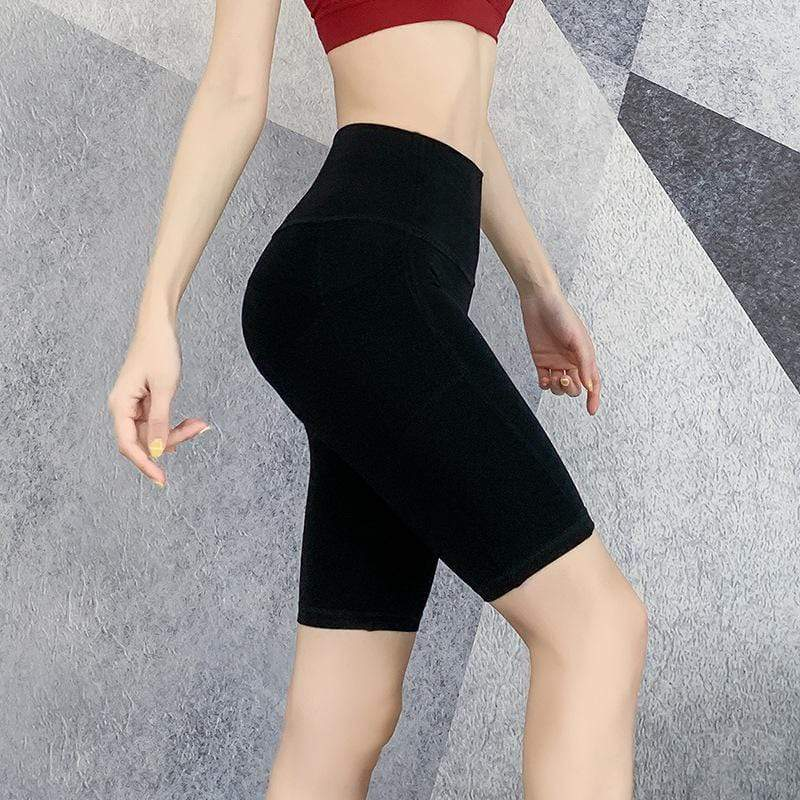 Cycling High-Waist Sports Shorts