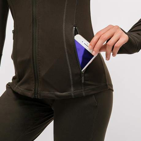 Elastic Zipper Running Jacket