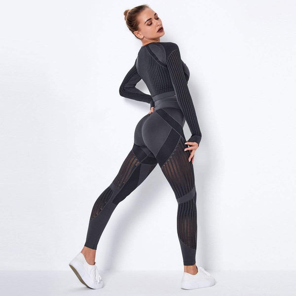 Hollow Out Sports Suit