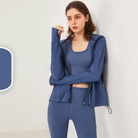 Loose Zipper Yoga Jacket