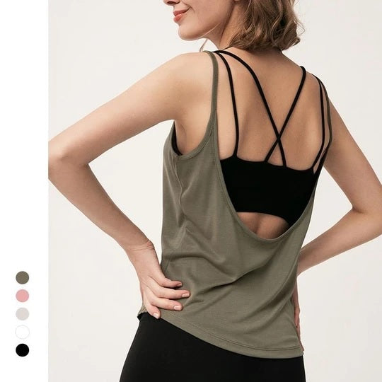 Open Back Sports Top