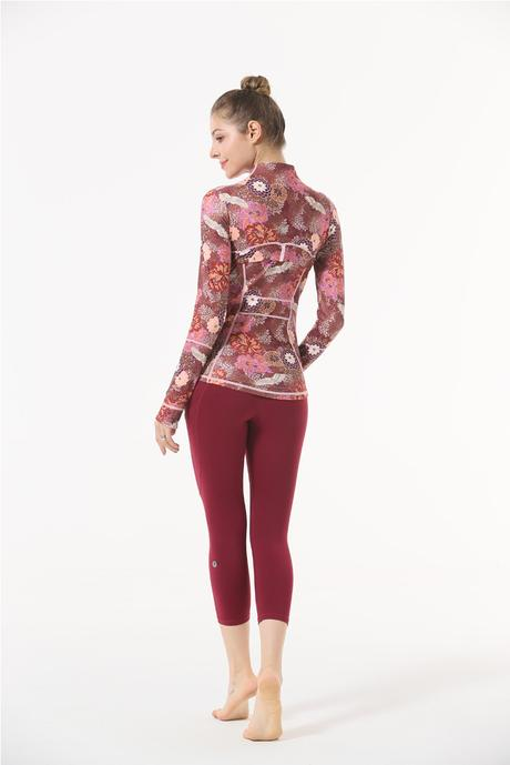 Printed Casual Yoga Jacket