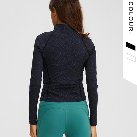 Tight-fitting Stretch Solid Jacket