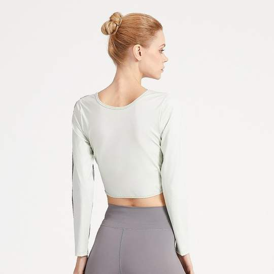 Trendy Gathered Long Sleeve