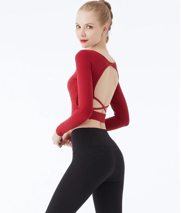 Wraps Backless Long Sleeve