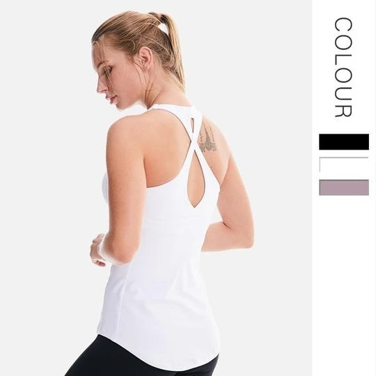 Yoga Tank with Chest Pad