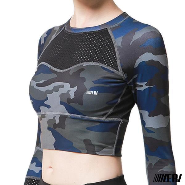 Army Full Crop Tops