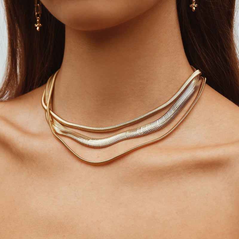 Olive Chain - thick - gold