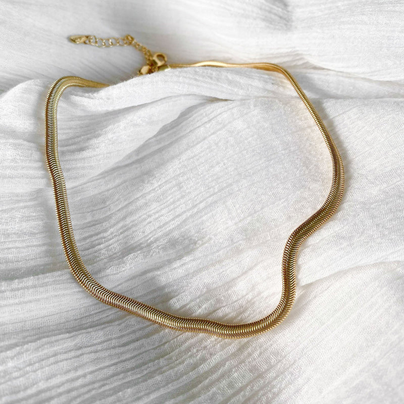 Olive Chain - thin - gold