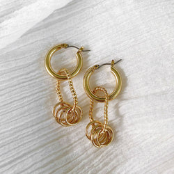 Tube Hoops - gold