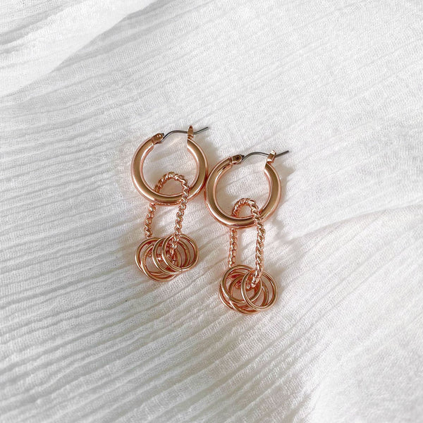 Tube Hoops - rose gold