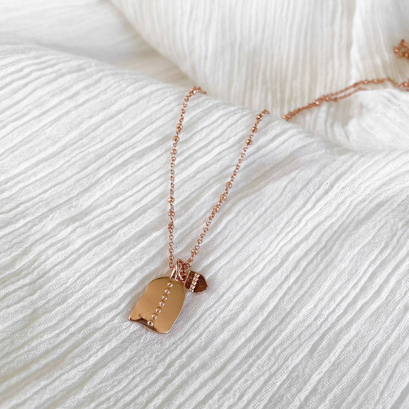 Jasmine Necklace - rose gold