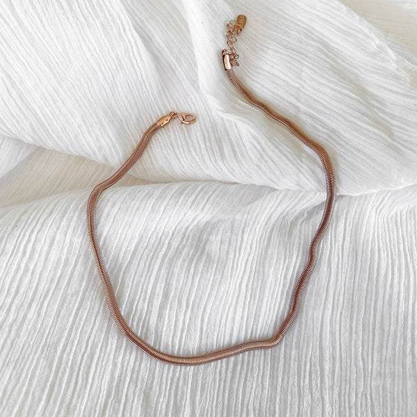 Olive Chain - thin - rose gold