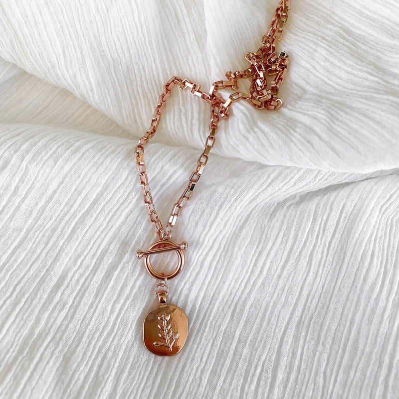 Fleur Necklace - rose gold