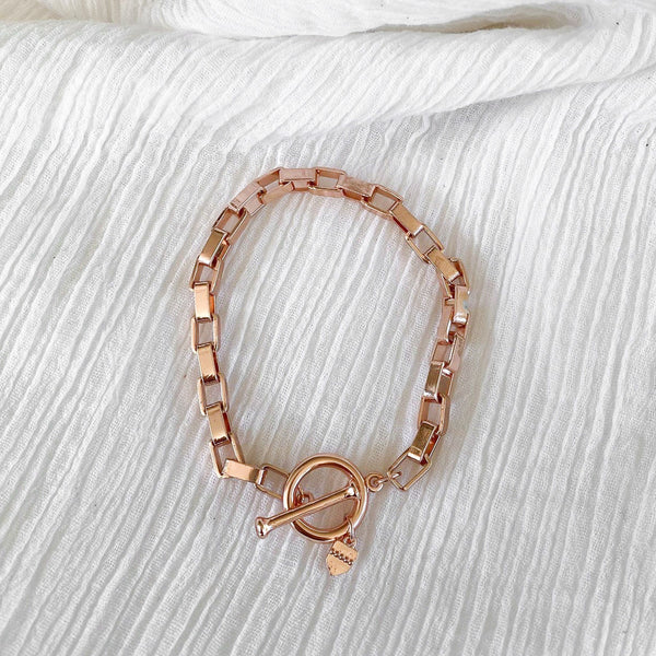 Chain Link bracelet - rose gold