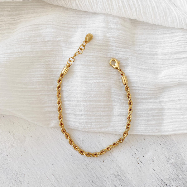 Rope Chain Bracelet - gold