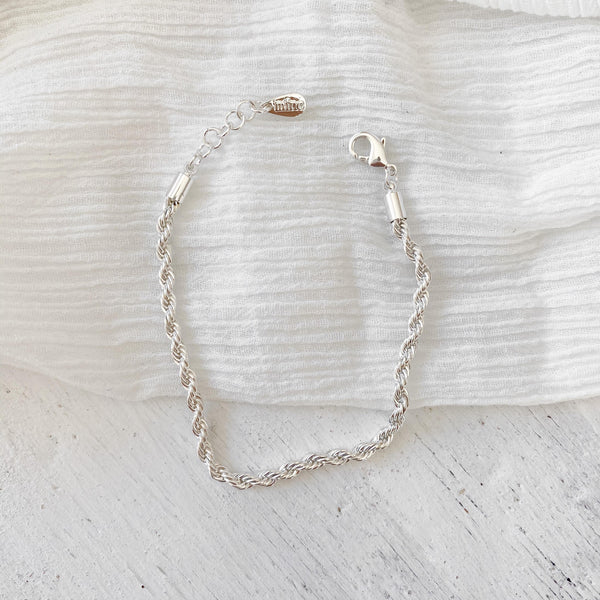 Rope Chain Bracelet - silver