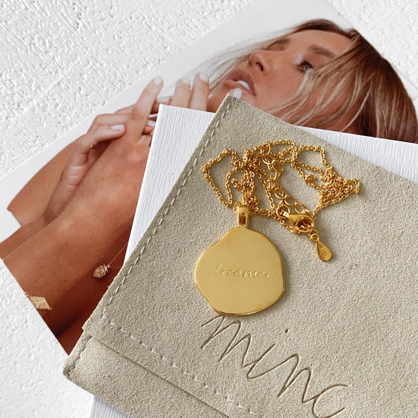 Dreamer Necklace - 18k gold vermeil
