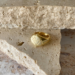 Self Love Ring - 18k gold vermeil