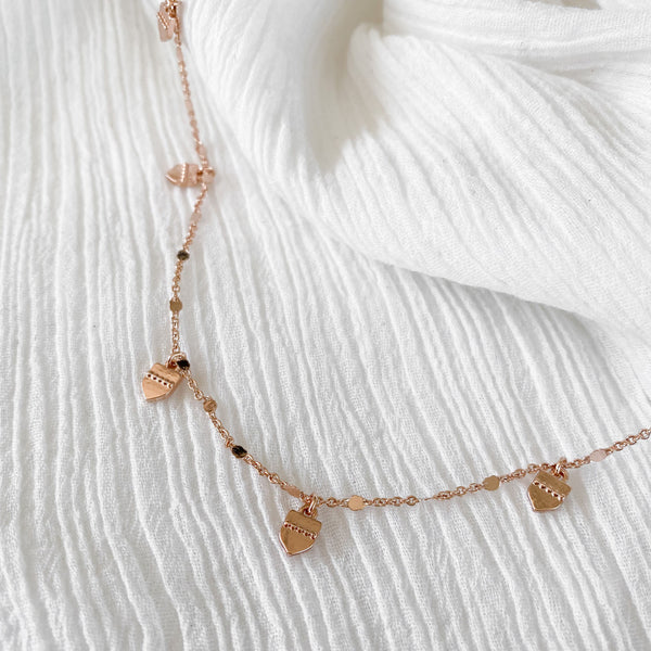 Leilani Charm Necklace - rose gold