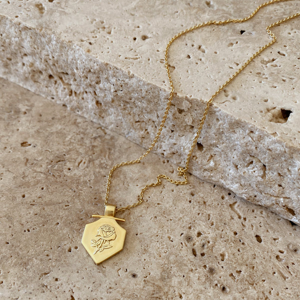 Rosa Necklace - 18k gold vermeil