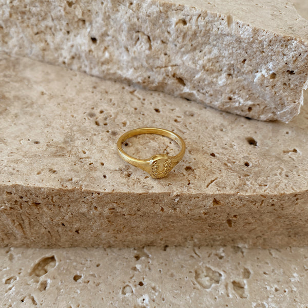 Lucky Charm Ring - 18k gold vermeil