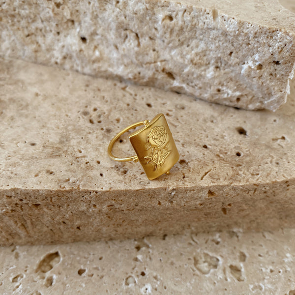 Rosa Ring - 18k gold vermeil