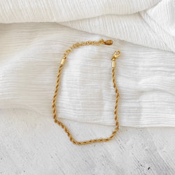 Rope Chain Anklet - gold