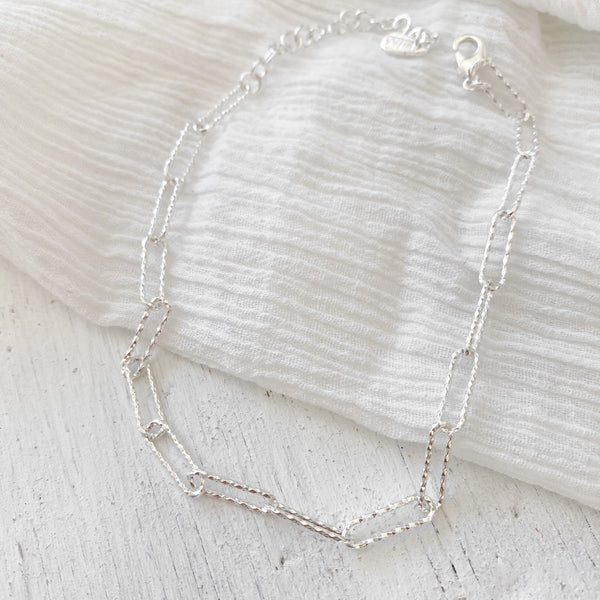 Kirra Chain Anklet - silver