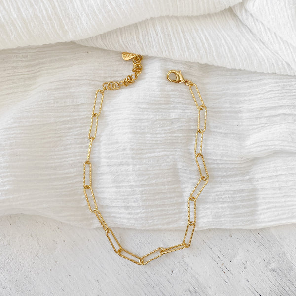 Kirra Chain Anklet - gold