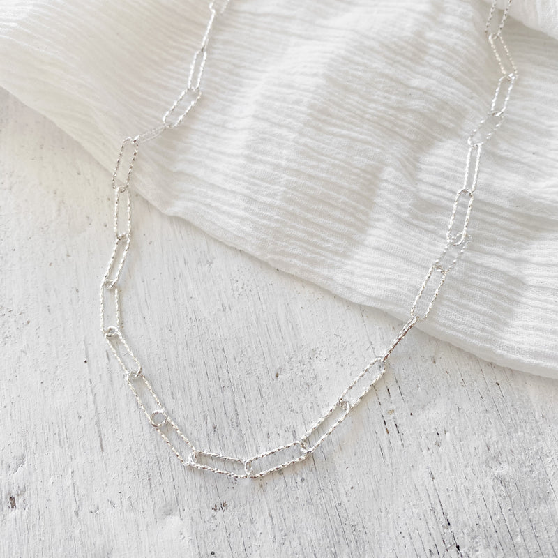 Kirra Chain Necklace - silver