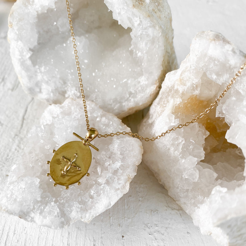 Petal Pendant Necklace - gold fill