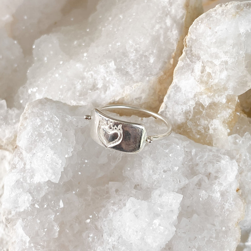 Flaming Hearts Ring - sterling silver