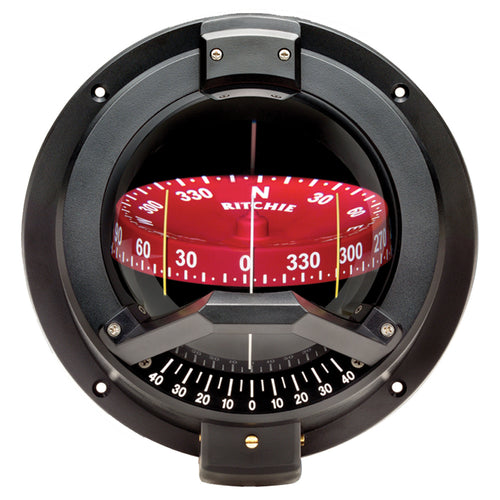 Ritchie BN-202 Navigator Compass - Bulkhead Mount - Black [BN-202]-Ritchie-Point Supplies Inc.