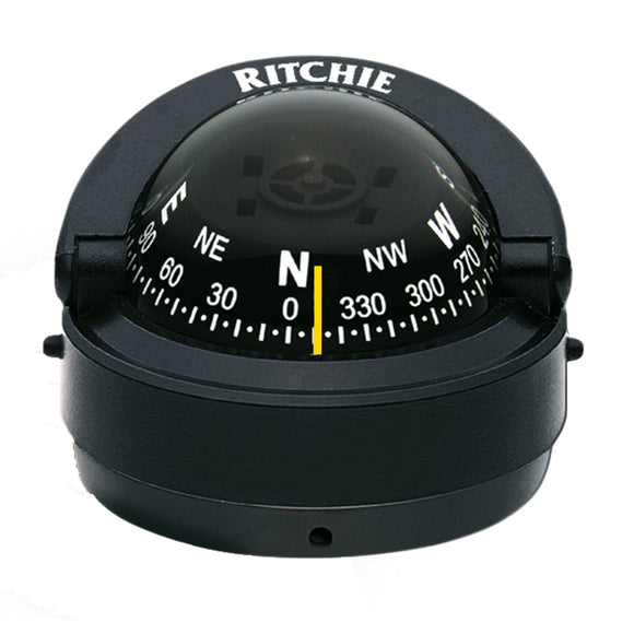 Ritchie S-53 Explorer Compass - Surface Mount - Black [S-53] - Point Supplies Inc.
