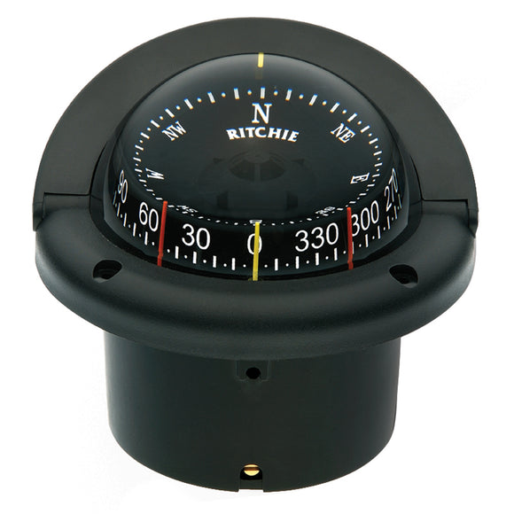 Ritchie HF-743 Helmsman Combidial Compass - Flush Mount - Black [HF-743] - Point Supplies Inc.