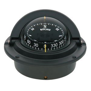 Ritchie F-83 Voyager Compass - Flush Mount - Black [F-83] - point-supplies.myshopify.com