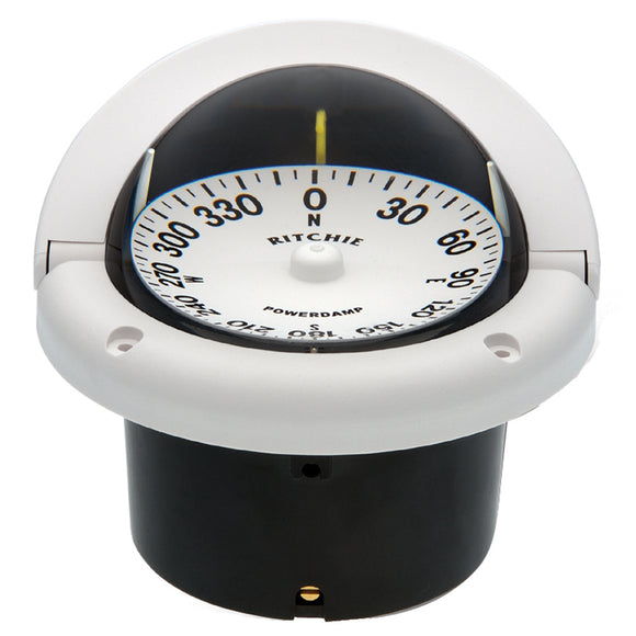 Ritchie HF-742W Helmsman Compass - Flush Mount - White [HF-742W] - point-supplies.myshopify.com