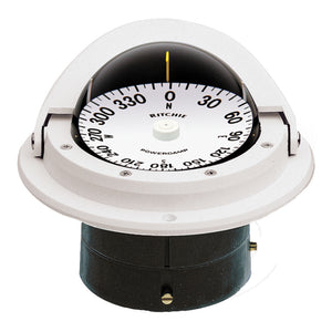 Ritchie F-82W Voyager Compass - Flush Mount - White [F-82W] - Point Supplies Inc.